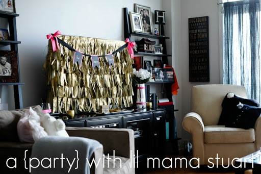 A {day} with lil mama stuart How to Make a DIY Fringe Party Backdrop