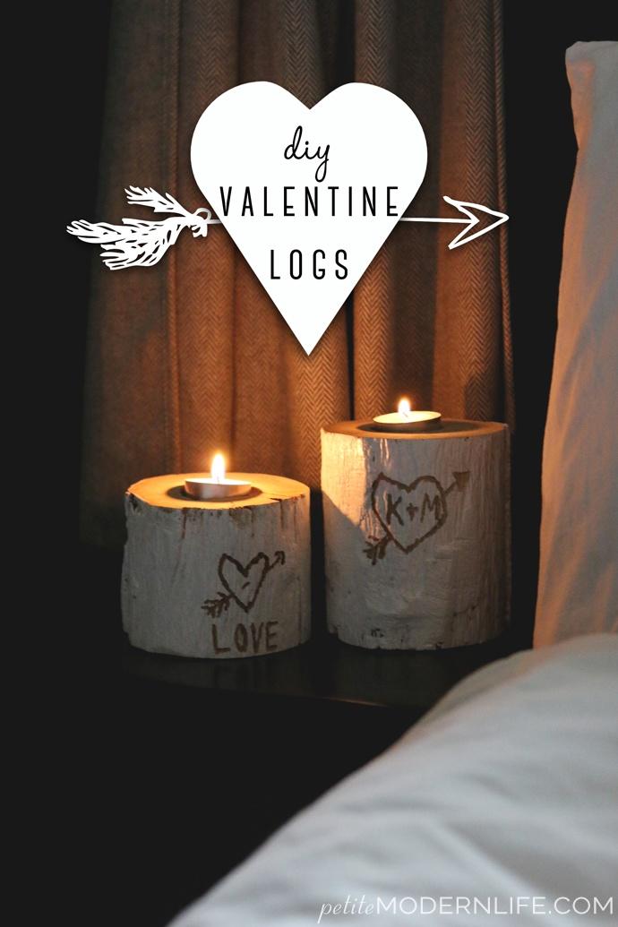 DIY Valentine Logs