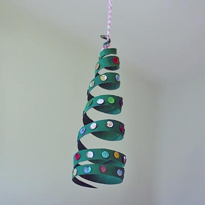 Cardboard Tube Coiled Christmas Tree