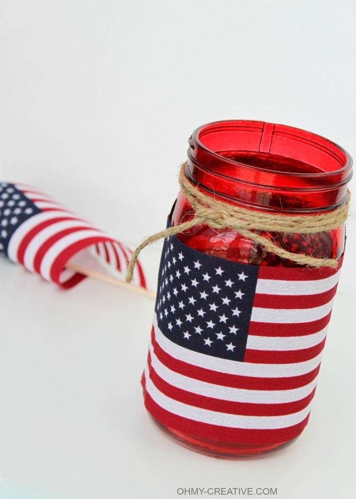 Flag Mason Jar Candle Holder Oh My Creative
