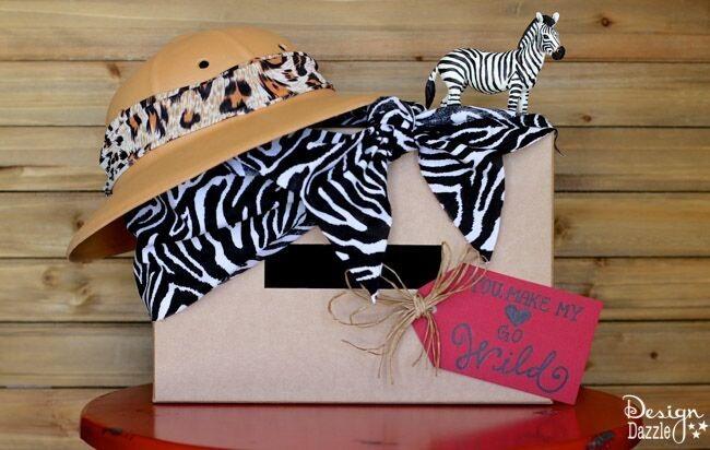 You Make My Heart Go Wild Safari Valentine Card Box
