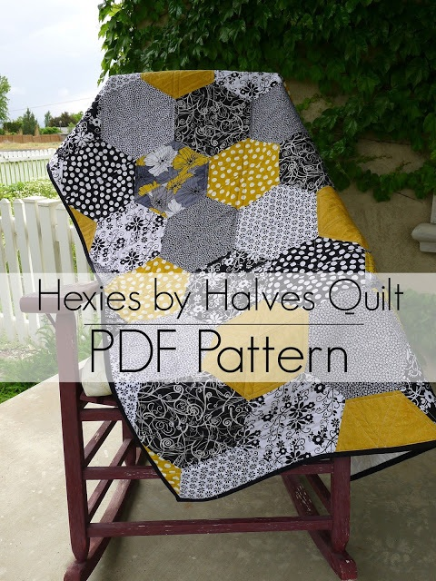 Hexies by Halves PDF Pattern and Quilt Along Highlights