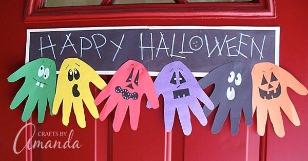Halloween Handprint Ghoul Banner a fun handprint craft