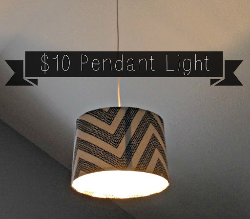 Custom $10 Pendant Light