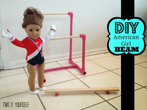 DIY American Girl Balance Beam (Gymnastics Set Knockoff)