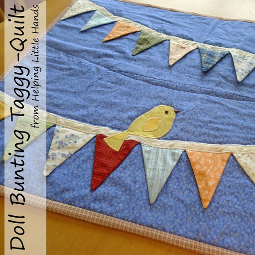 Doll Bunting Taggy Blanket