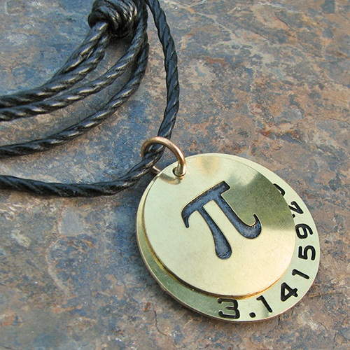 Boutique Academia Digits of Pi Necklace Winner