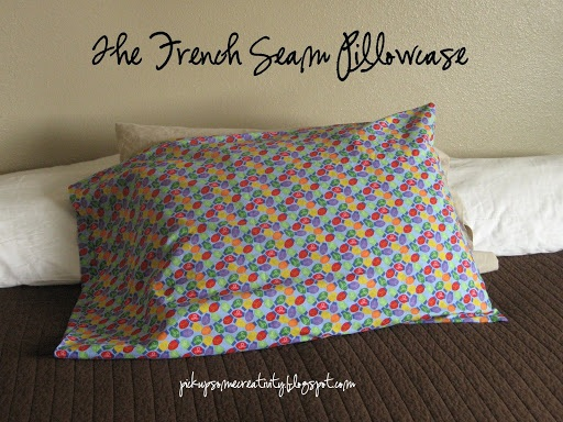 French Seam Pillow Case Tutorial