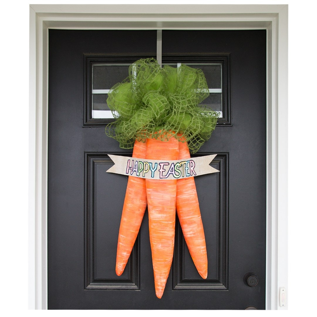 Easter Carrots Door Wreath Tutorial