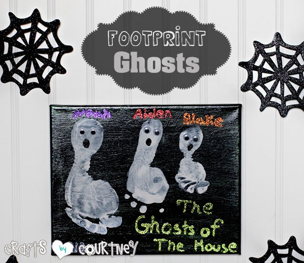 Create Cute Children's Ghost Footprint Art