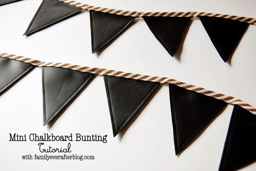 Family Ever After.... Mini Chalkboard Bunting Tutorial