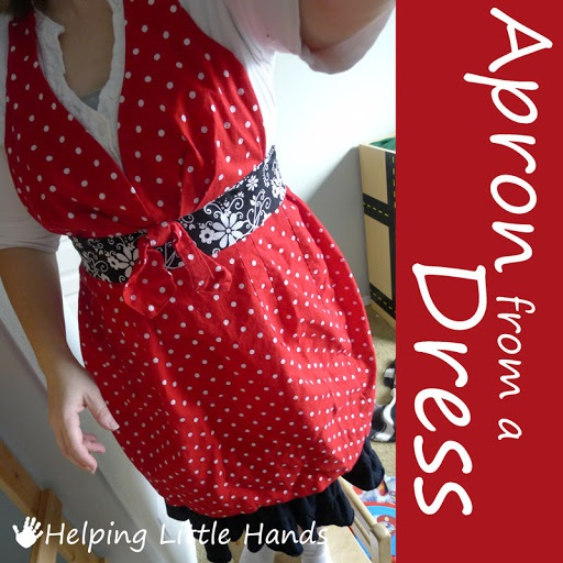 Apron from a Dress