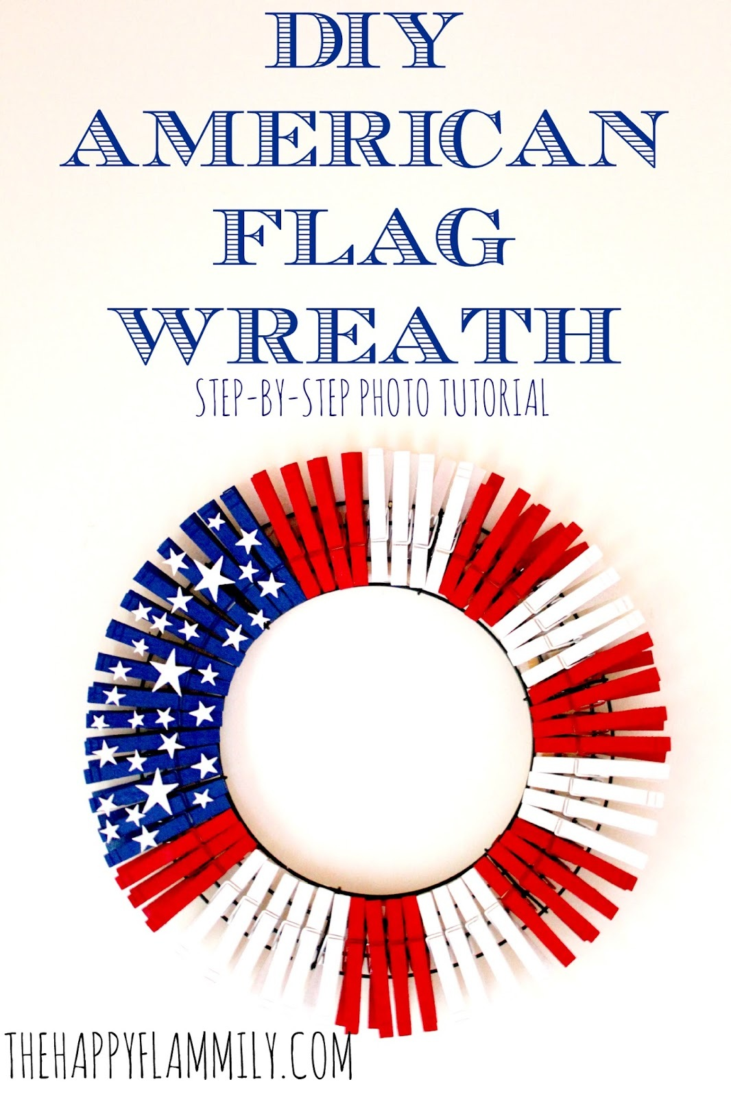 The Happy Flammily: DIY American Flag Wreath