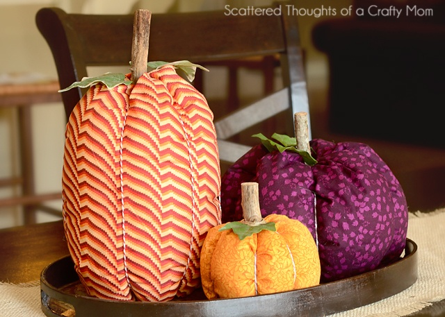 How to make Fabric Pumpkins | Scattered Thoughts of a Crafty Mom
