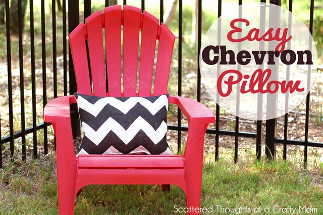 Easy Chevron Stenciled Pillow (w/ Fabric Spray Paint)   Scattered Thoughts of a Crafty Mom