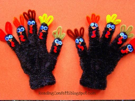 10 Fat Turkeys Puppet ~ Reading Confetti