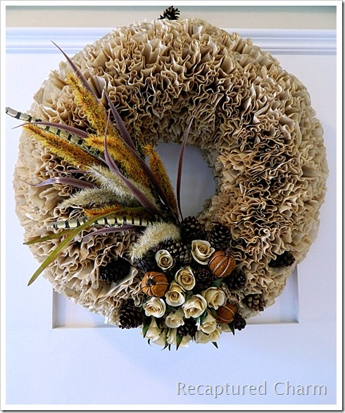 Recaptured Charm: Fall Coffee Filter Wreath