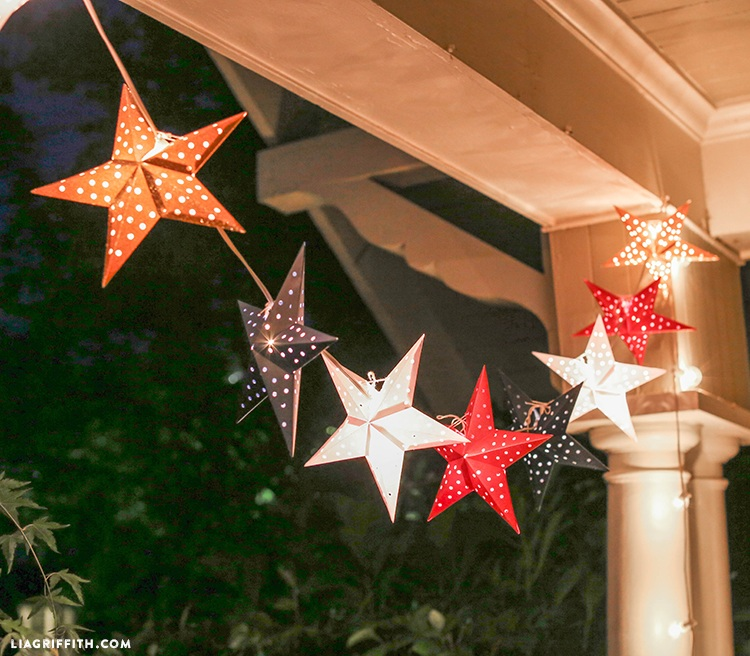 Paper Star Lights Garland