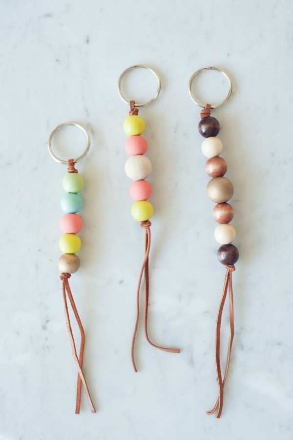 DIY Wooden Bead Keychain - The Sweetest Occasion  The Sweetest Occasion