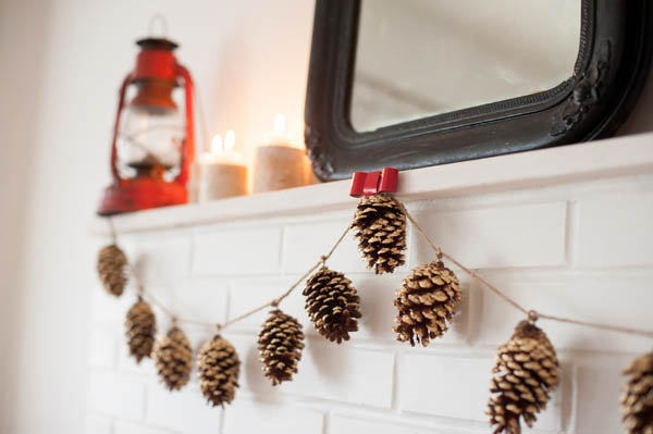 DIY Gold Leaf Pine Cone Garland - The Sweetest Occasion  The Sweetest Occasion