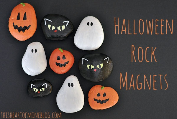 Halloween Rock Magnets • this heart of mine