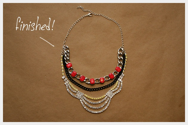 Colorful Statement Necklace DIY