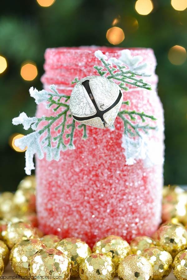DIY Glitter Mason Jar Luminary