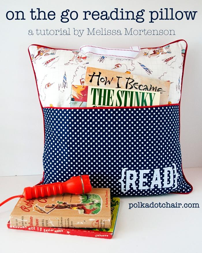 Pocket Pillow Sewing Pattern on Polka Dot Chair Blog