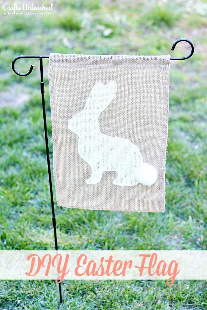 Easter Flag DIY: How To Make a Pottery Barn Flag For Less