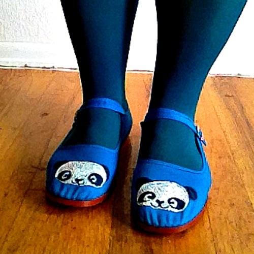 Draw & Paint Panda Shoes