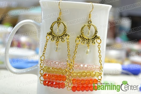 Summer Jewelry Designs on Making Ombre Beaded Chandelier Earrings with Chains