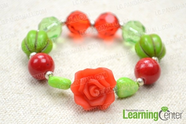 Making Colorful Bracelet for Kids with Crystal and Polymer Beads