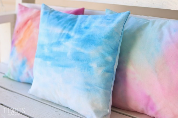How to Watercolor Paint on Fabric {tutorial} - Tidbits