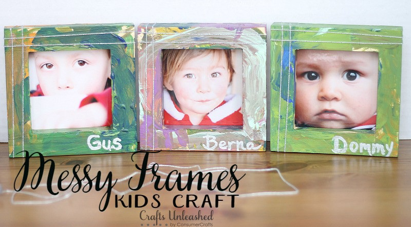 Craft For Kids: Painted Picture Frames