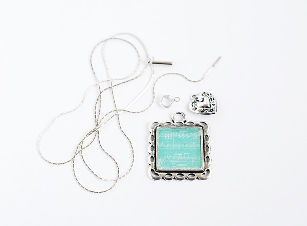 Mother's Day Sheet Music DIY Necklace