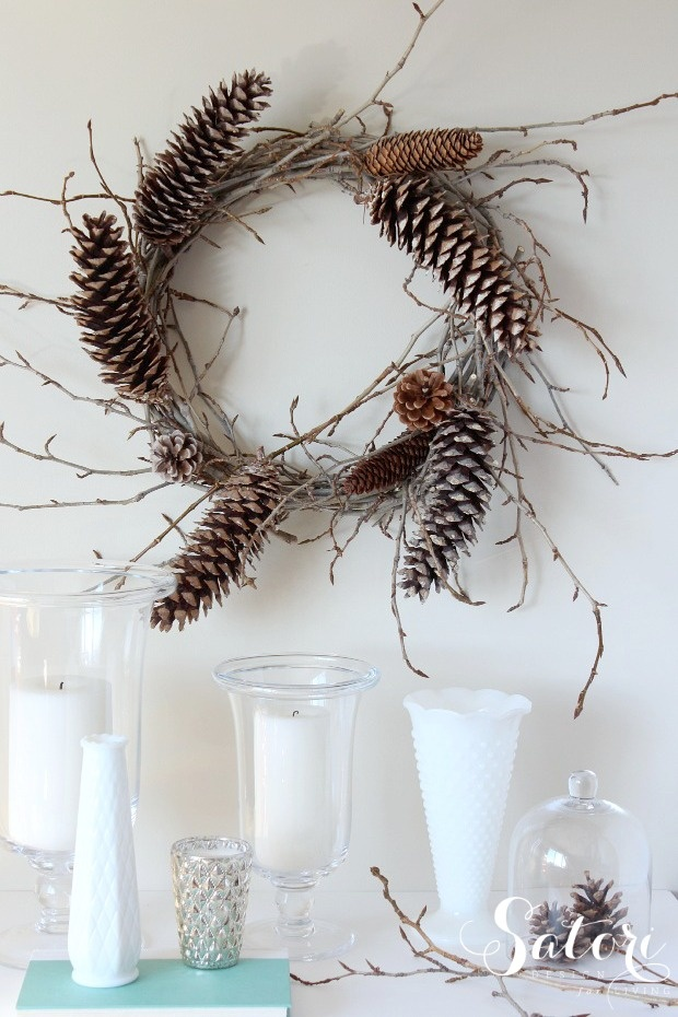 Woodland Wreath & One Item Project Challenge (Twigs) - Satori Design for Living