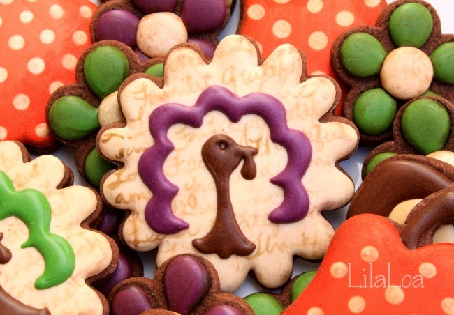 LilaLoa: Quick and Classy Turkey Cookies