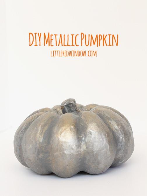 Spooky Metallic Pumpkin