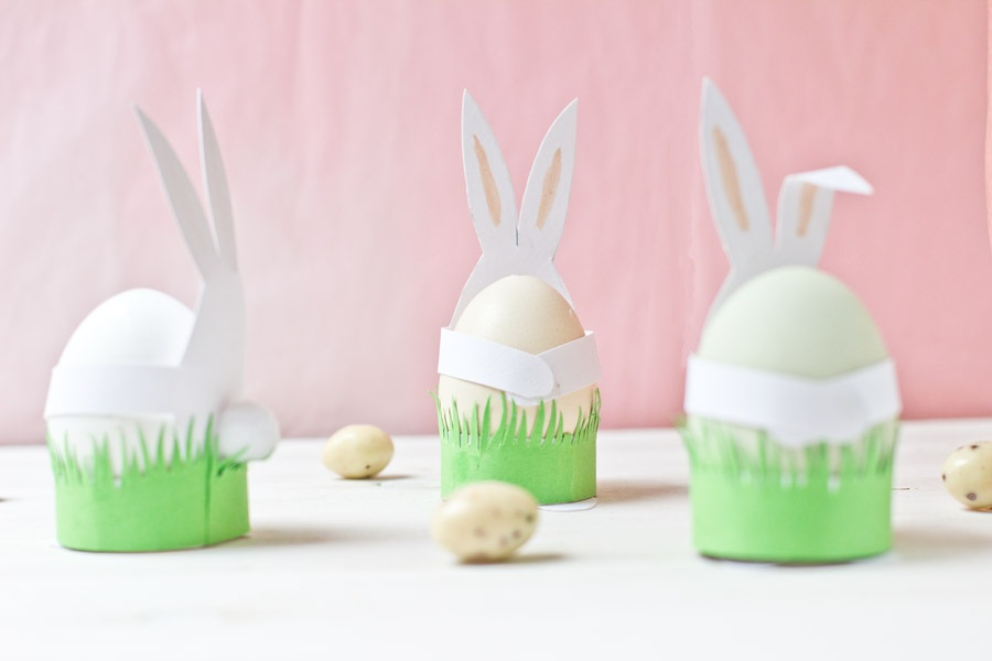 Paper Easter bunnies DIY. | LOOK WHAT I MADE ...LOOK WHAT I MADE