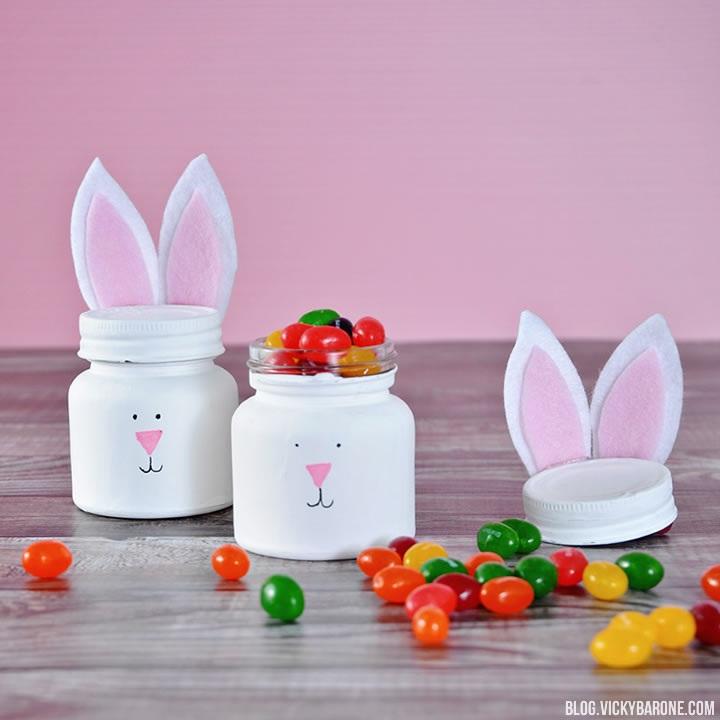 DIY Bunny Jars