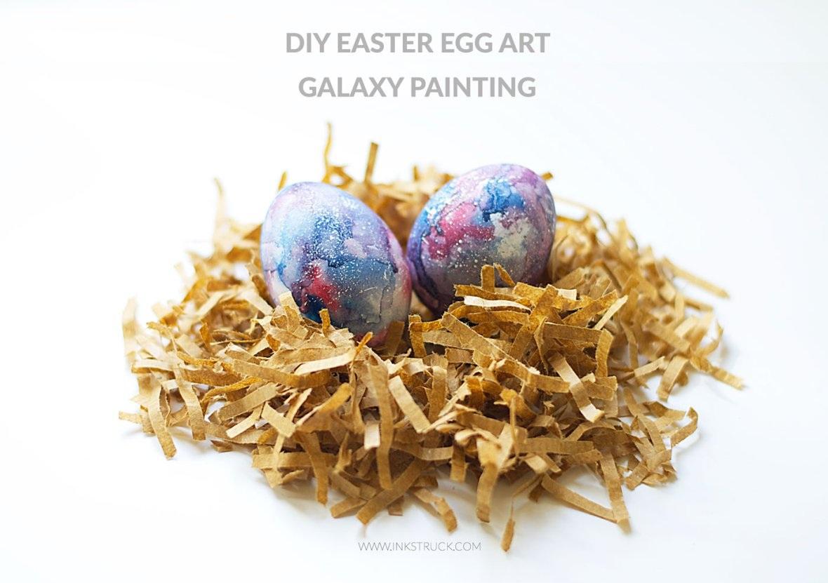 DIY galaxy easter egg Inkstruck Studio