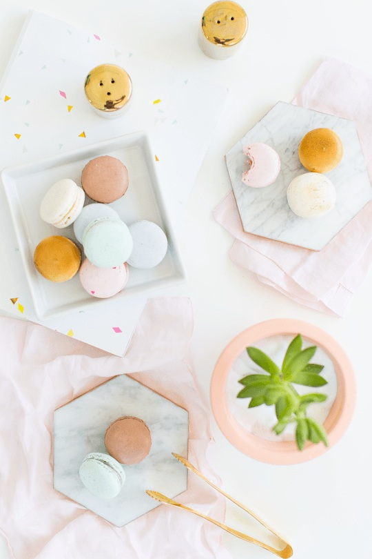 DIY Gilded Marble Hexagon Serving Boards Sugar & Cloth