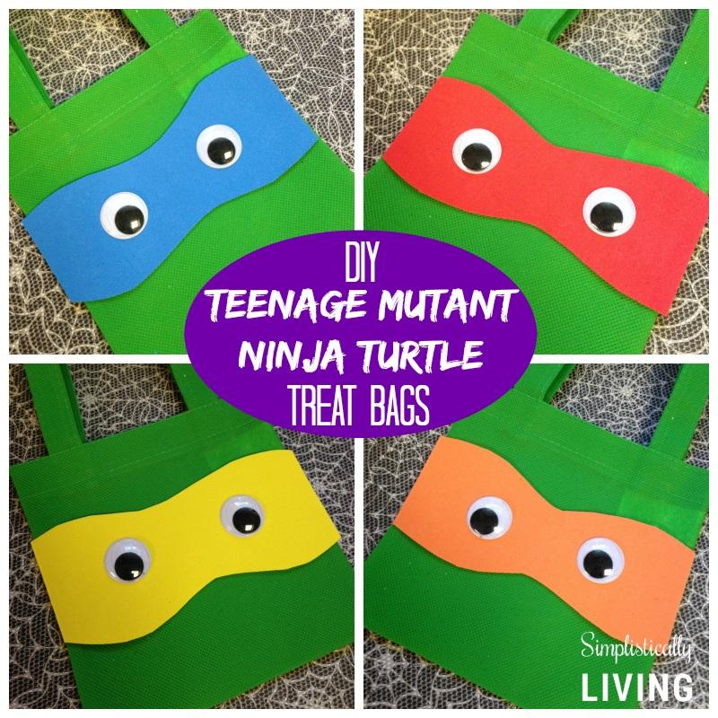DIY Teenage Mutant Ninja Turtles Treat Bags! {Dollar Store Craft}