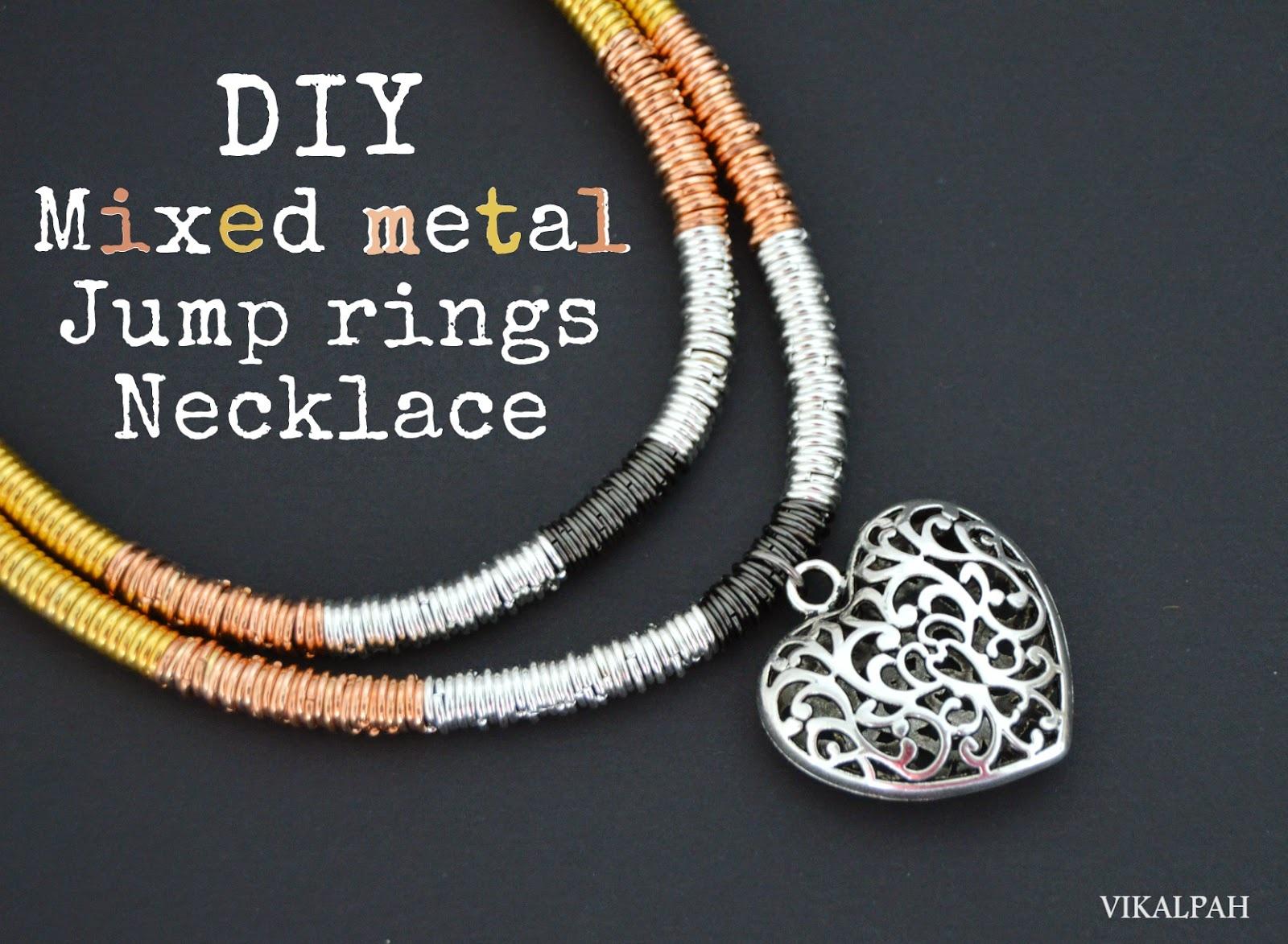 Mixed metal jump rings Necklace DIY