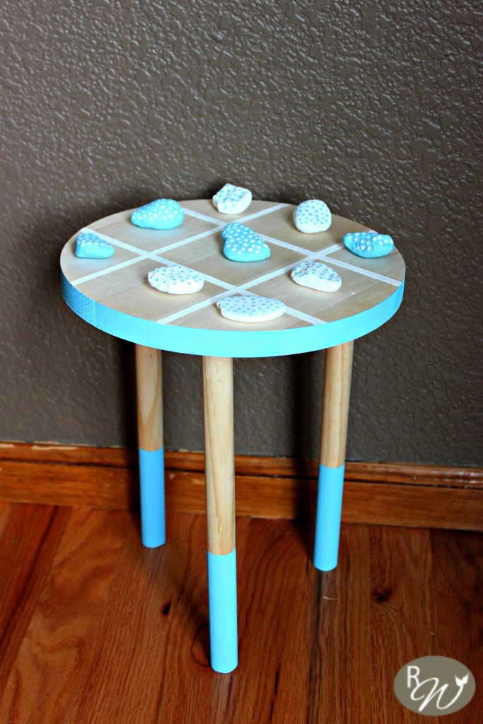 DIY Tic-Tac-Toe Stool: Monthly Home Depot Gift Challenge - The Rustic Willow