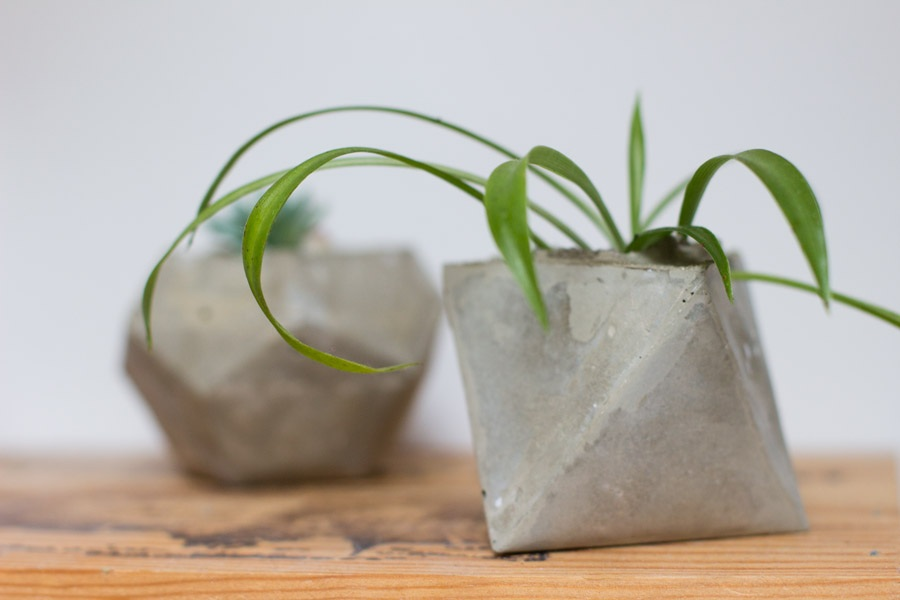 DIY geometrical planters. LOOK WHAT I MADE ...LOOK WHAT I MADE …