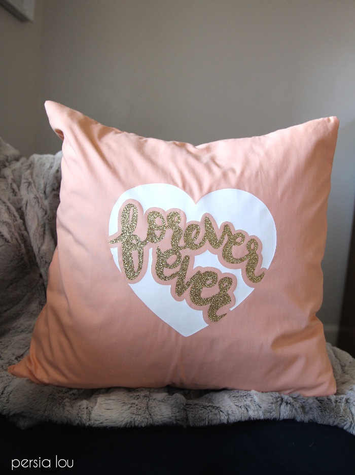Valentines Day Forever Ever Pillow Tutorial Free Silhouette Cut File