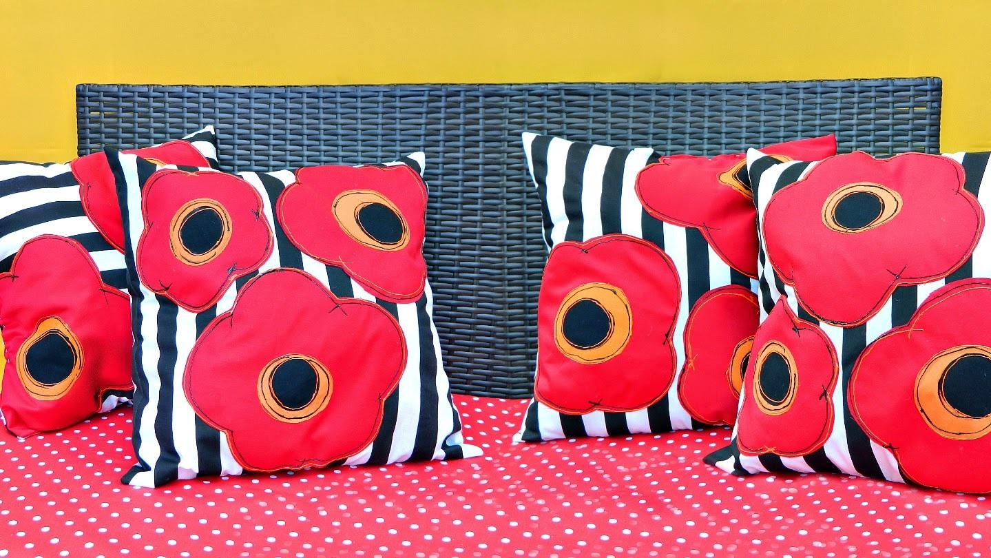 Pretty Poppy Pillows!