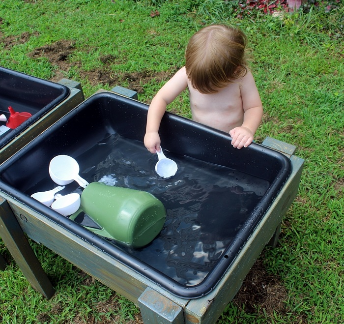 DIY Toddler Water Table from Recycled Wood The Backyard Just Keeps Getting FUNNER