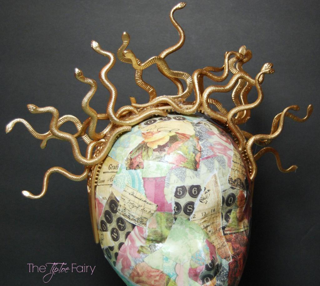 DIY Halloween Medusa Snake Headband Tutorial